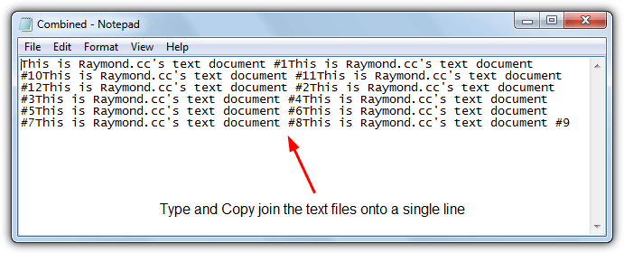 join text files onto single line