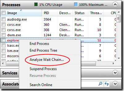 analyze wait chain