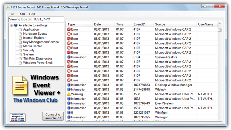 windows event viewer plus