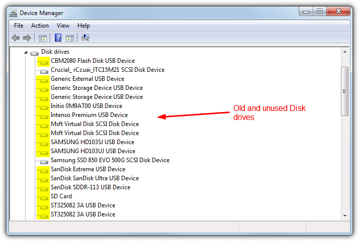 ounused_disk_drives_device_manager