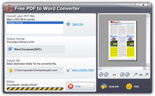 pdf to word free software