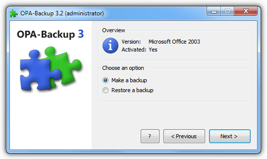 Create or restore a backup