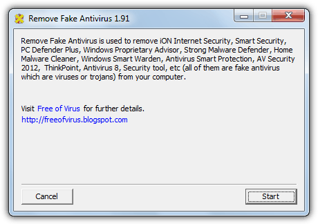 Remove Fake Antivirus