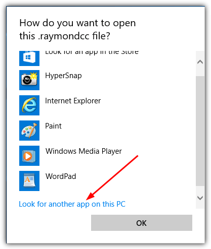 windows 10 look for app