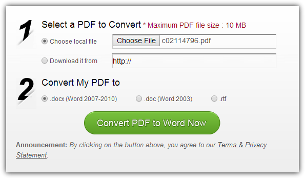 Wondershare Free PDF to Word Online Converter