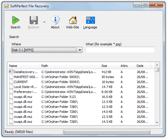 FREE SoftPerfect File Recovery