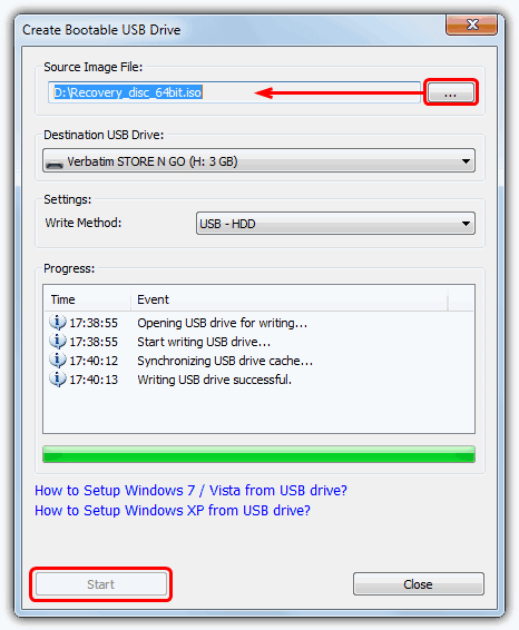 PowerISO Create Bootable USB Drive