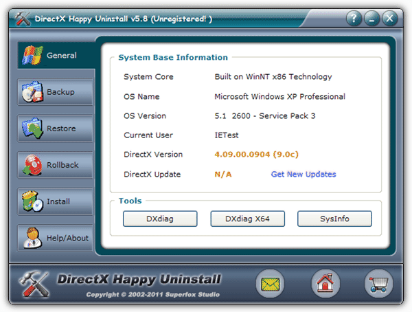 DirectX Happy Uninstall