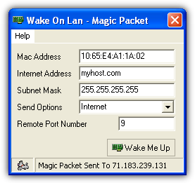 how to Wake on lan over the internet