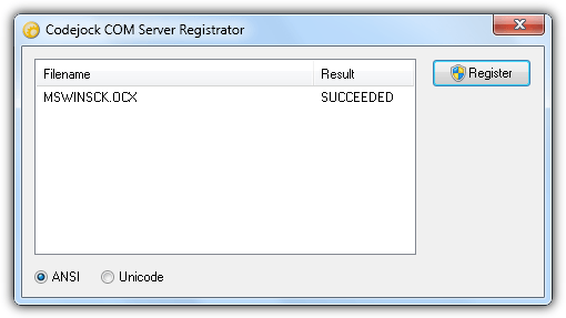 register mswinsck ocx