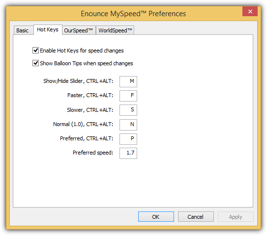 myspeed hotkeys