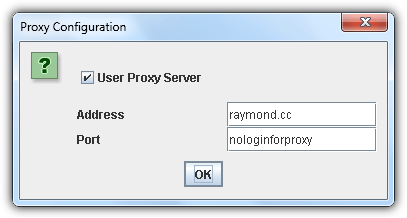 proxy support without authentication
