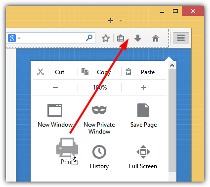 add print icon to toolbar