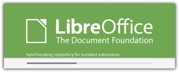 libreoffice splash screen