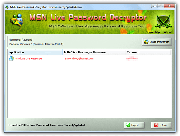 msn live password decryptor