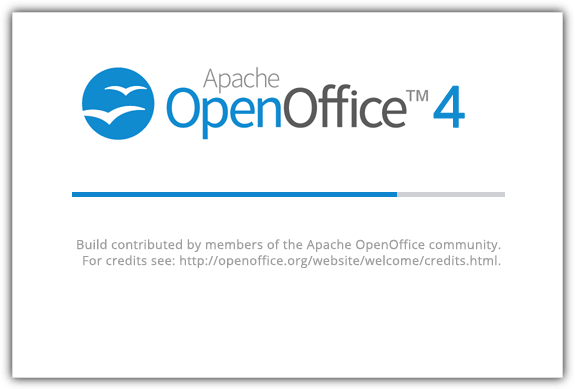 openoffice splash screen