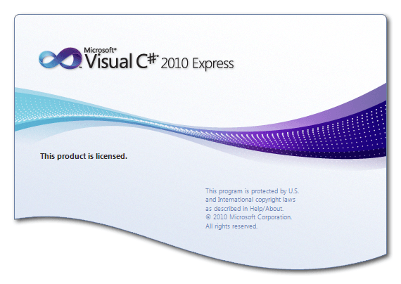 visual studio express splash screen