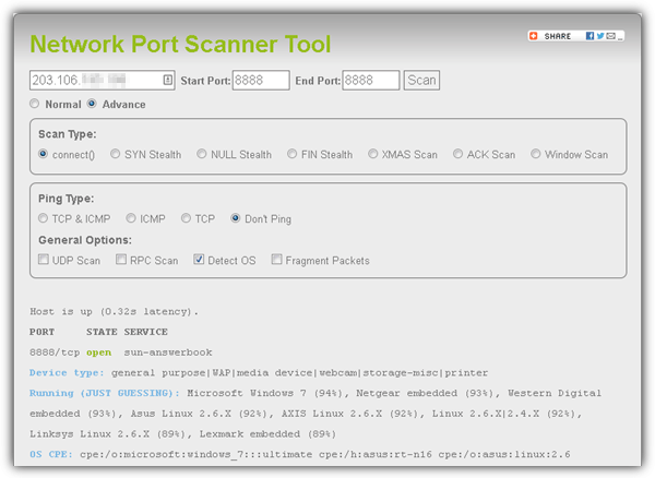 network port scanner