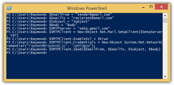powershell send email