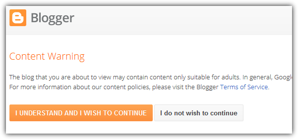 blogger content warning