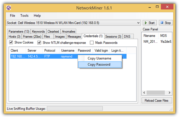 networkminer reconstruct file
