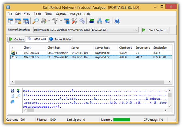 softperfect network protocol analyser