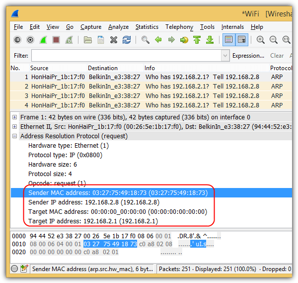 wireshark netcut attack