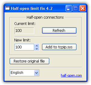 half open limit fix