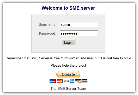 login sme web interface