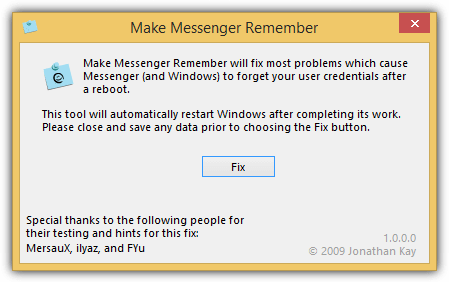 make messenger remember
