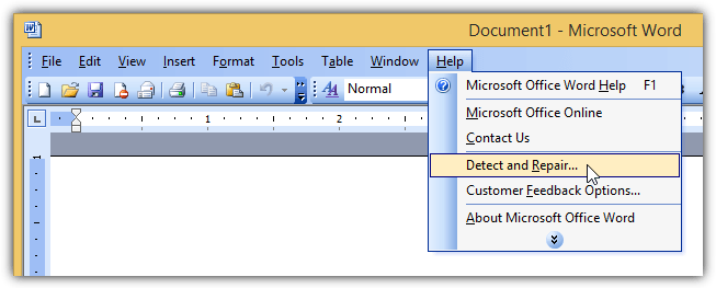 Automatically Diagnose And Repair Microsoft Office 2003 2007 2010