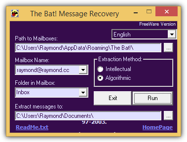the bat message recovery