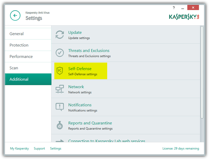 Unable to Remotely Control or Configure Kaspersky using