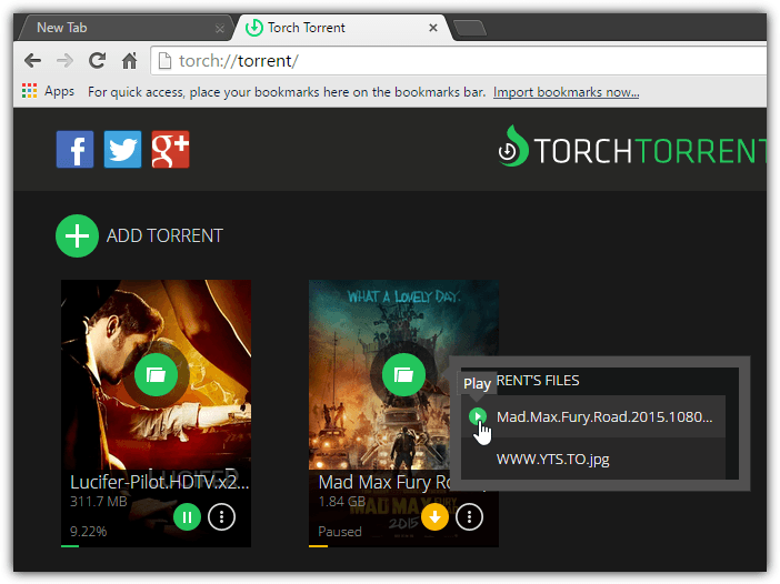 torch torrent stream