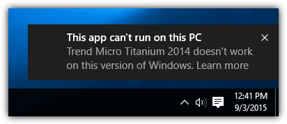 this app cant run on this pc