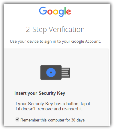 google login 2-step verification