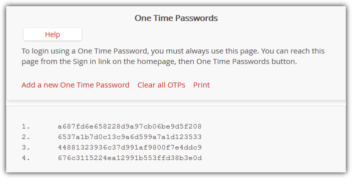 lastpass one time passwords