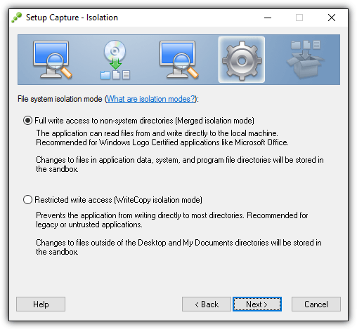 thinapp file system isolation mode