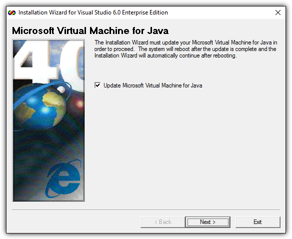 update microsoft virtual machine for java