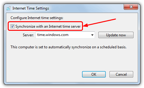 synchronize windows time server