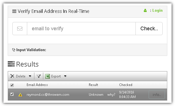 10 Sites to Verify E-mail Address Validity for Free • Raymond CC