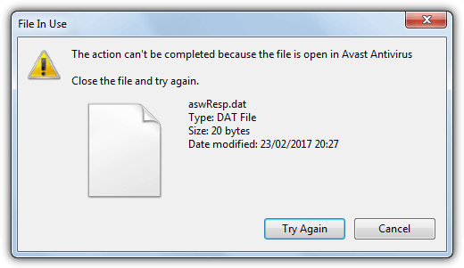 cannot delete aswresp.dat file