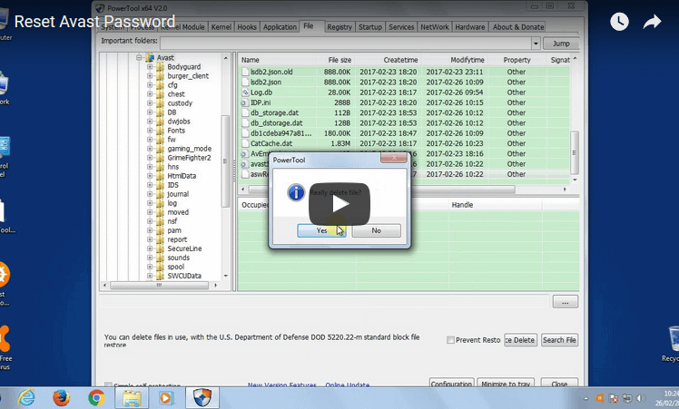 reset avast password youtube