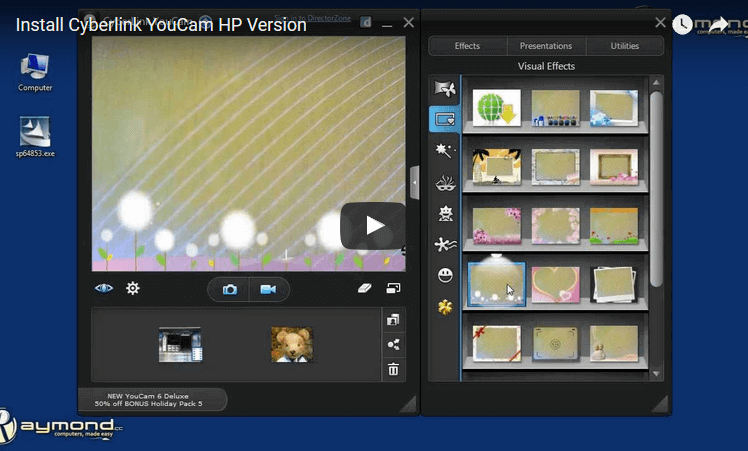 install HP youcam youtube video