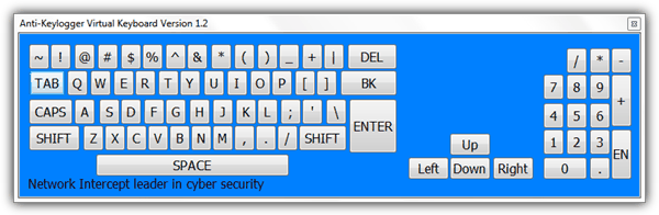 Anti-Keylogger Virtual Keyboard
