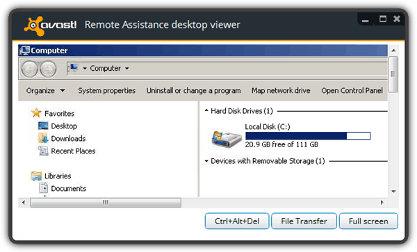 Avast Remote Assistance Desktop Viewer