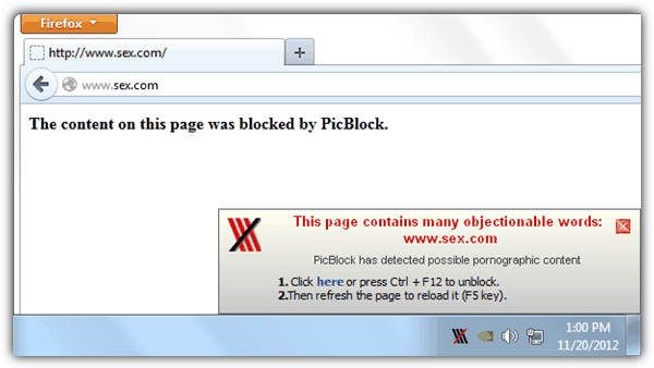 Blocked by PicBlock