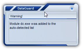 Dataguard Warning window