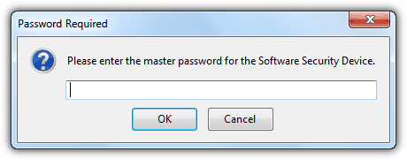 Enter Firefox Master Password