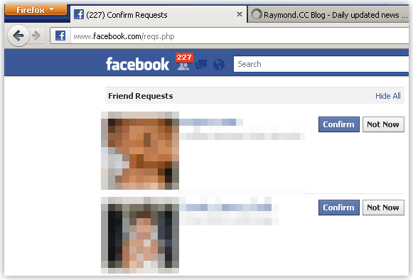 Facebook Confirm All Friend Request